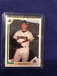 1990 Upper Deck Steve Decker Rookie Baseball Card