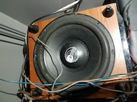 black and silver subwoofer