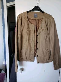 Beige Leather Bombet Jacket - size L Toronto, M4V 1Z6
