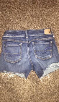 distressed blue American Eagle denim shorts Kitscoty, T0B 2P0