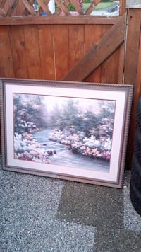 Large framed printed picture