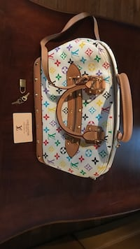 white, green, and brown leather Louis Vuitton backpack Wilmington, 28405
