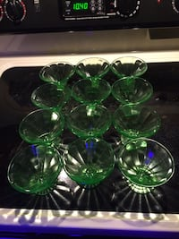 green and clear glass vases Omaha, 68144