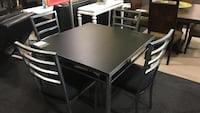 Square table black with 4 chairs Rockville, 20852