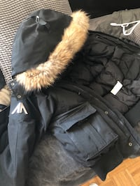 Black and white fur-lined zip-up jacket Toronto, M6J 0A8