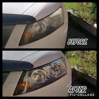 Car detailing headlight Restoration Toronto, M1L