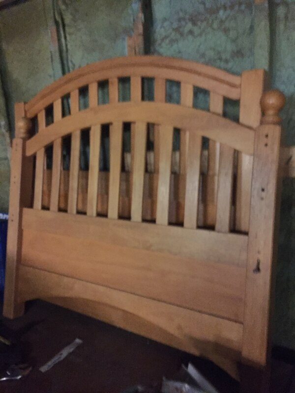 Twin bed headboard n footboard FB 34 inches high by 43 inches wide / HB 40.5 high x 43 inches wide
