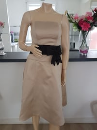 superbe robe de soiree neuf taille 46 champagne
