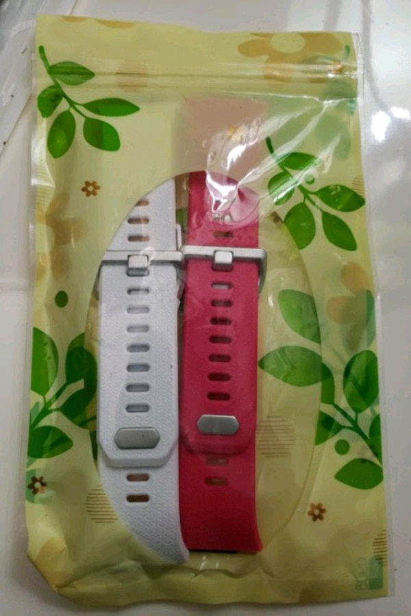 Fitbit ionic largereplacement bands pink and white
