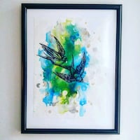 Original framed alcohol ink painting by Jill H.