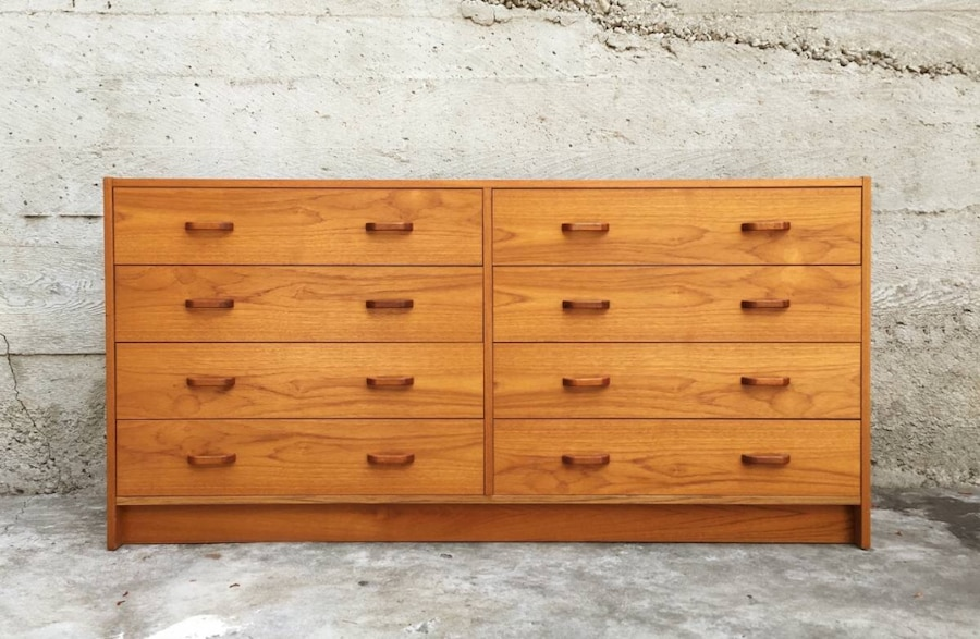 Danish Credenza Los Angeles : Used mid century modern danish teak drawer dresser by ervi
