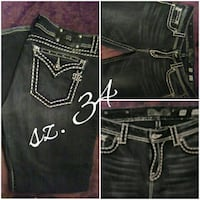 black denim Miss Me jeans Bastrop, 71220