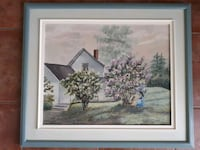 Framed Painting of House and Trees Pointe-Claire