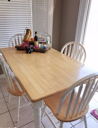 Solid table good quality for4/6 pax with chairs Oakville, L6M