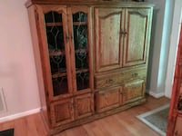 Oak entertainment center Sterling, 20165