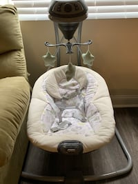Battery operated baby swing with music and vibration  18 mi