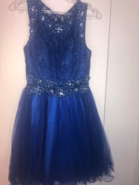 Royal blue, and silver homecoming/prom dress 1632 mi