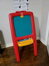Children's chalkboard and white board (2 in one)