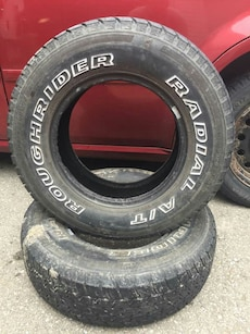 two Radial auto tires