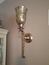 BOMBAY Mosaic Hand Made Glass & Brass Sconces