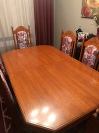 brown wooden dining table set Mississauga, L5R
