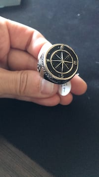 Compass and anchor men's ring size 7 Occoquan, 22125