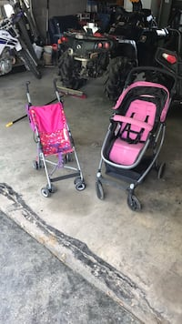 Baby's pink and black stroller Baltimore, 21237