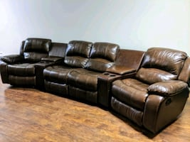 Home Theatre Leather Chairs (Comparables setups cost up to $3000)
