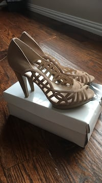 Nine West nude open open-toe heels size 10 Carrollton, 75010