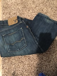 blue denim straight cut jeans Lethbridge, T1K 5S6