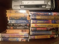 Vhs player and all movies for 60 that is cheap che Livingston, 77351