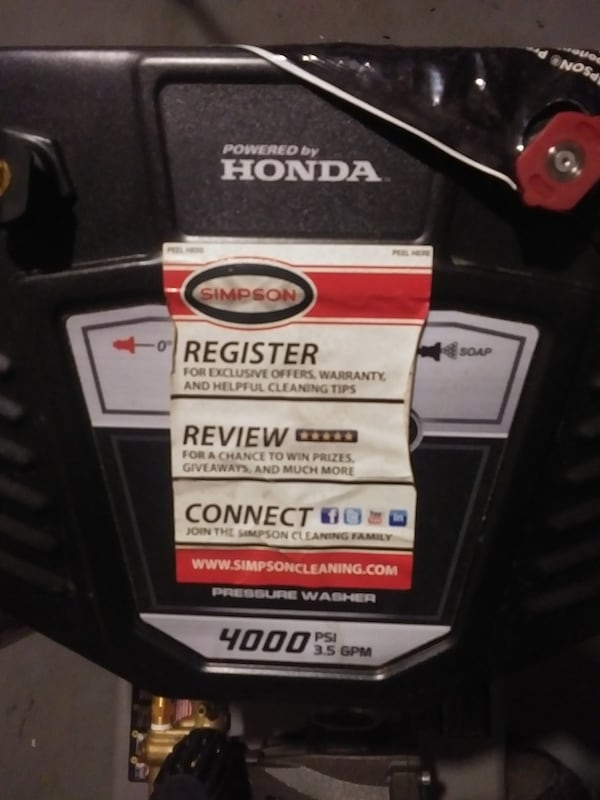 Honda pressure washer 4000 psi 0