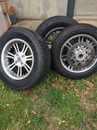 four gray multi-spoke car wheels with tires Baltimore, 21223