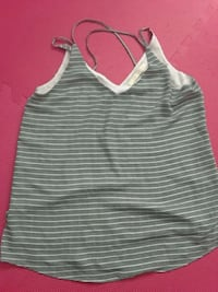 gray and white striped tank top 788 km