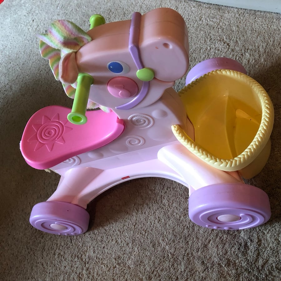 Fisher Price Roll-Along Musical Pony