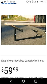 HEAVY DUTY PICK UP TRUCK BED EXTENDER