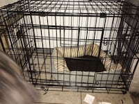 Black metal folding dog crate Alexandria, 22306