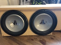 """Two 12"""" JL Audio W1 subs"""