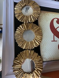 Gold Designer accent Mirror set
