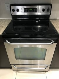 black and gray induction range oven Richmond Hill, L4B 1A6