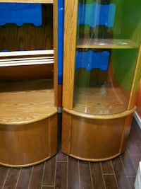 two brown wooden framed glass top tables Hamilton, L8R 2K3