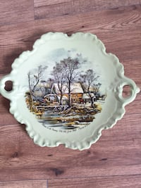 Currier and Ives platter.