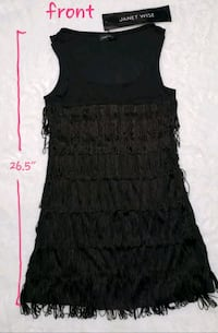 Janet Wise - black fringed long top Toronto, M6A 2G3