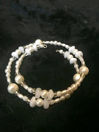 beaded white necklace