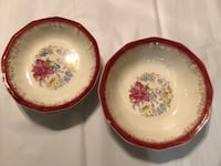 (4) Antique soup/salad dishes. (1) Serving dish Manahawkin, 08050