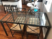 IKEA Glass Dining Table w/ 4 chairs Chicago, 60607