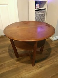 round brown wooden side table Toronto, M6A 2S3