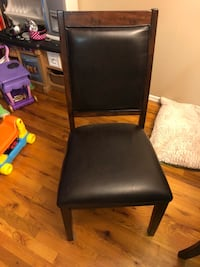 black leather padded armless chair New York, 11214