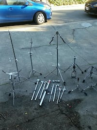 Assorted stands etc for drum kit