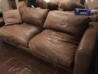 Leather couch, loveseat, and chair for $650! Herndon, 20170